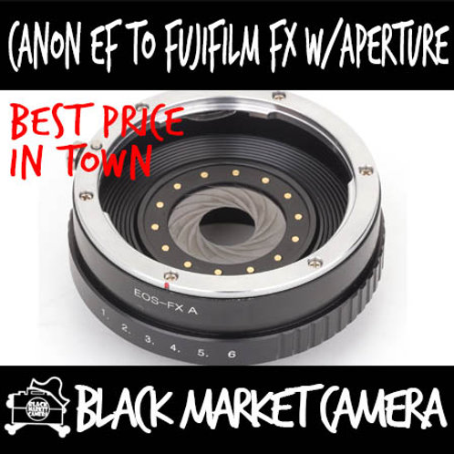Canon EF  Lens to Fuji FX Mount Body Adapter (Built in Aperture)