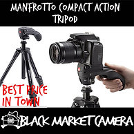 Manfrotto Compact Action Aluminum Tripod w/ Hybrid Head