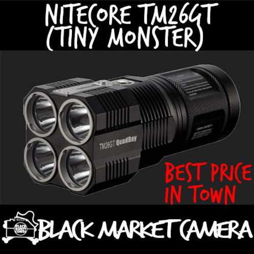 Nitecore TM26GT Quadray Tiny Monster 3500 Lumens LED Flashlight