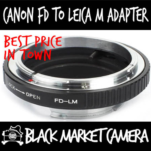 Canon FD Lens to Leica M Body Adapter