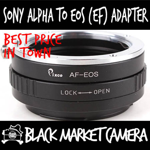 Sony Alpha Minolta A to Canon EOS adapter w/ Glass (Infinity Focus)