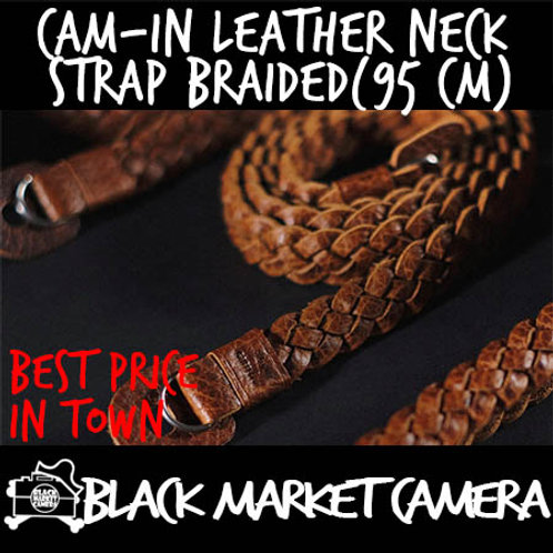 Cam-in Leather Neck Strap Braided (95 cm)