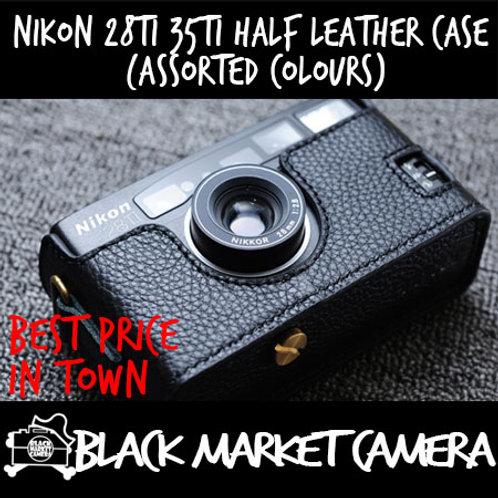 Funper Nikon 28Ti 35Ti Half Leather Case