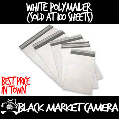 White Poly Mailer (Sold in bundle of 100 sheets)