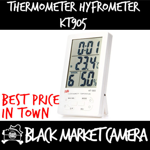 Digital Thermometer and Hygrometer with Clock [KT905]