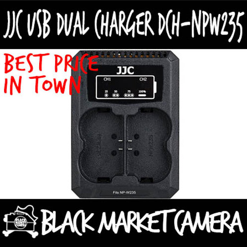 JJC DCH-NPW235 USB Charger for Fujifilm NP-W235