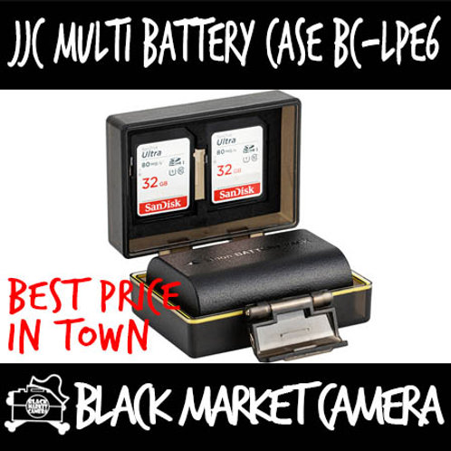 JJC BC-LPE6 Multi-Function Battery Case (2x SD)