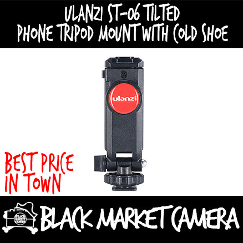 Ulanzi ST-06 Tilted Phone Tripod Mount with Cold Shoe