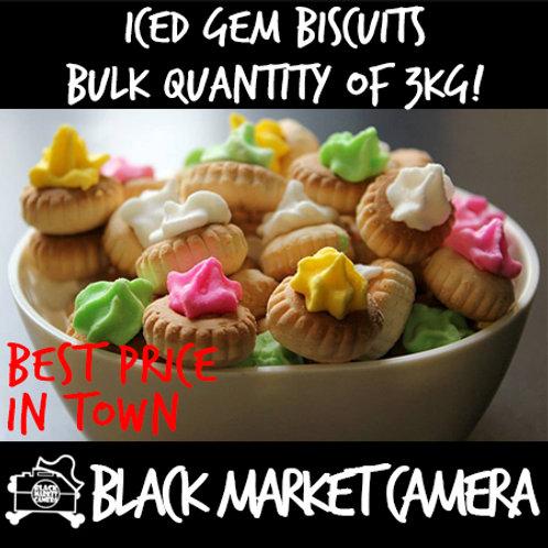 Iced Gem Biscuits (Bulk Quantity, Bag of 3kg)