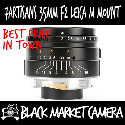7Artisans 35mm F2 Leica M Mount (Black)