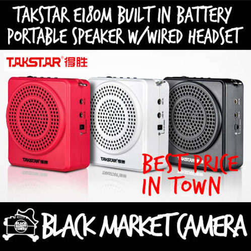 Takstar E180M Portable Speaker Recorder with Wired Headset