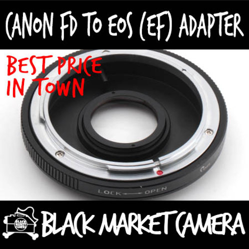 Canon FD to Canon EOS adapter w/ Glass (Infinity Focus)