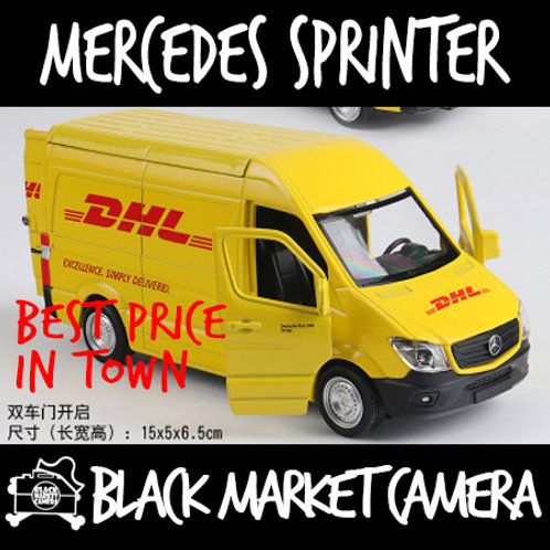 Miniature 1:36 Mercedes Sprinter DHL Model