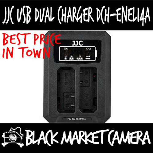 JJC DCH-ENEL14A USB Charger for Nikon EN-EL14/EN-EL14A