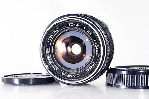 Olympus 24mm F2.8 H.Zuiko Auto-W Silver Nosed OM (used)