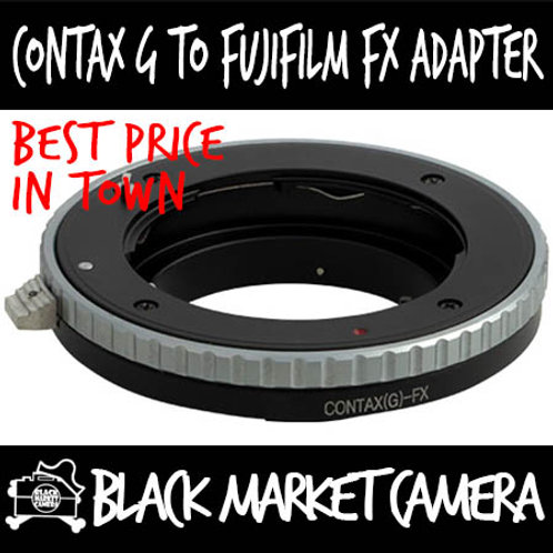 Contax G Lens to Fuji FX Mount Body Adapter