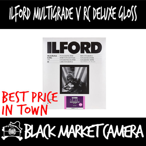 "Ilford Multigrade V RC Deluxe Gloss  (8""x10"") 25/50/100/250pcs"