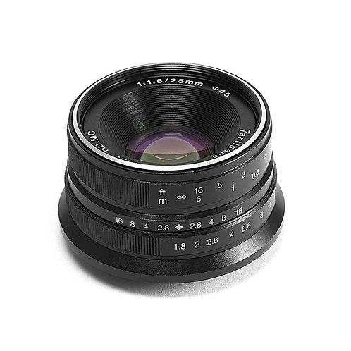7artisans 25mm F1.8 Wide Angle Prime Lens Black (Canon EOS M mount)