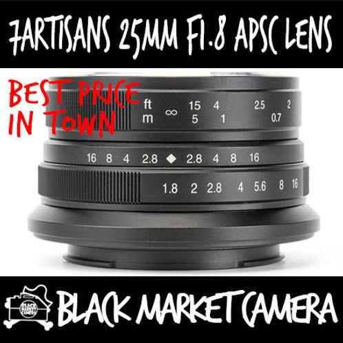 7Artisans 25mm F1.8 Black APSC Canon EOS M Mount