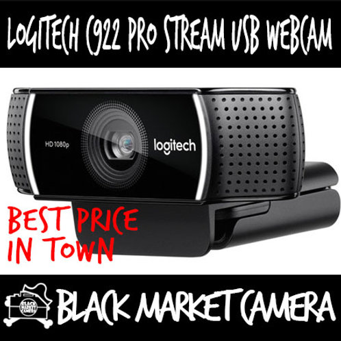 Logitech C922 Full HD Pro Stream USB Webcam with Background Replacement Feature