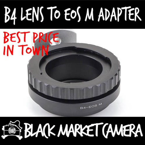 "B4 2/3"" ENG Cine Lens to Canon EOS M Camera"