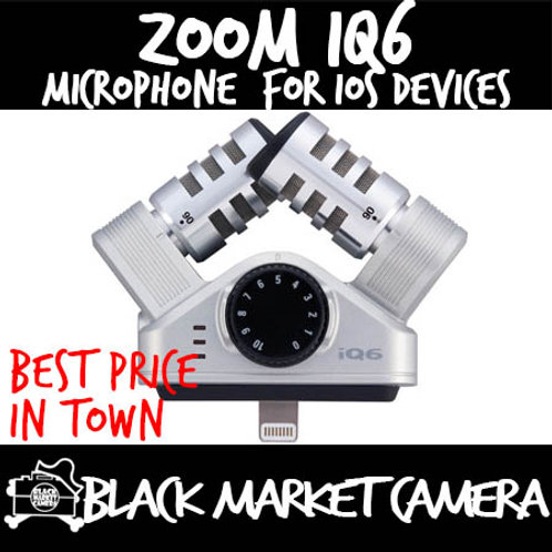 Zoom iQ6 Stereo X/Y Microphone for iOS Devices