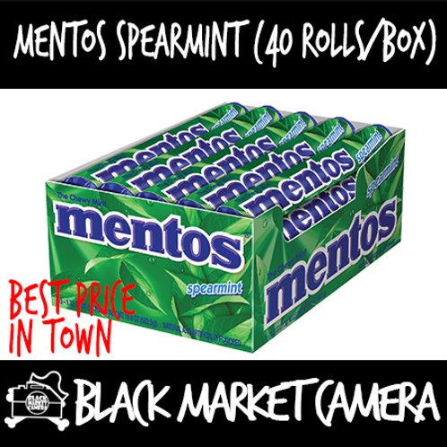 Mentos Spearmint (Bulk Quantity, 40 Rolls/Box)