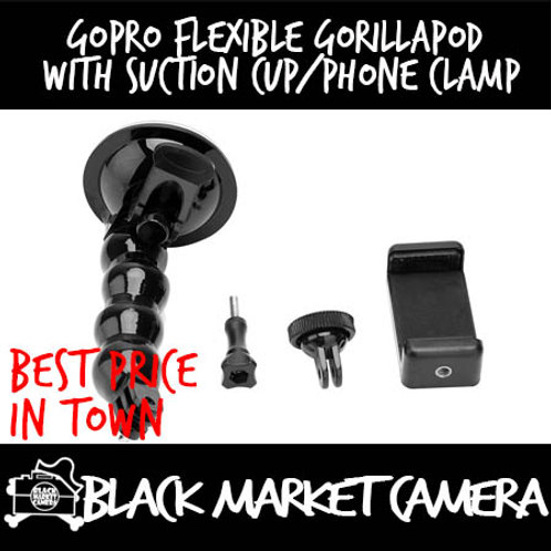GoPro Flexible Gorillapod with Suction Cup/Phone Clamp