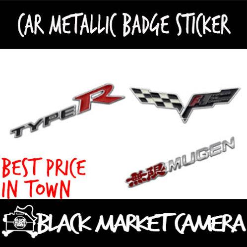 Car Metallic Badge Stickers