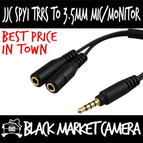 JJC SPY1 Audio Cable 3.5mm TRRS to 3.5mm Mic Monitor Jack