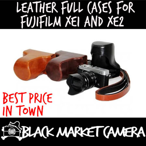 Leather Cases for Fujifilm XE1 and XE2