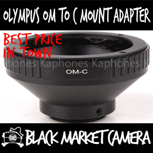 Olympus OM Lens to C Mount Body Adapter