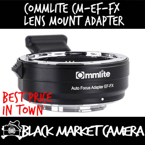 Commlite CM-EF-FX Electronic Auto-Focus Lens Mount Adapter (EF Lens to FX Body)