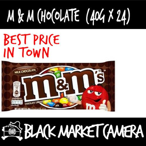 M&M Milk Chocolate/ Peanut [ BULK PURCHASE 24/ BOX][HALAL][CHOCOLATE]