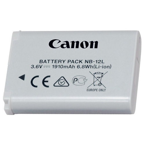 OEM NB-12L Battery & Charger for Canon