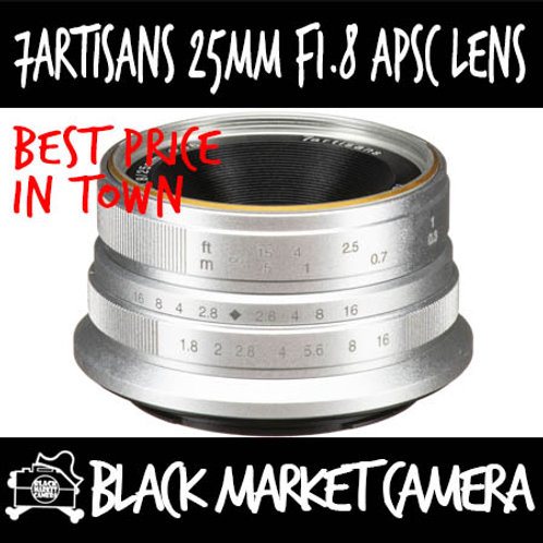 7Artisans 25mm F1.8 Silver APSC Micro 4/3 Mount