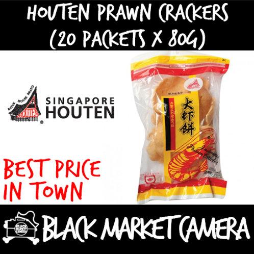 Houten Prawn Crackers (Bulk Quantity, 20 Packets x 80g)