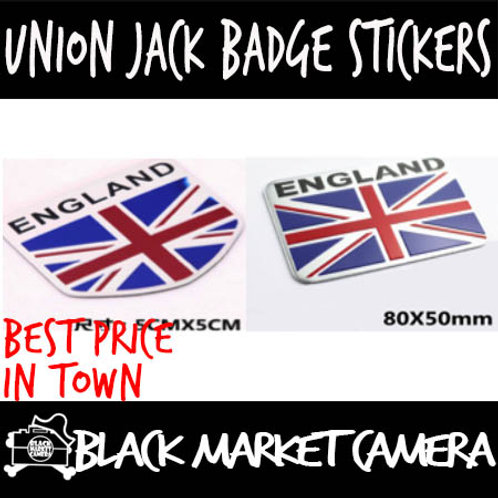 Union Jack Badge Stickers