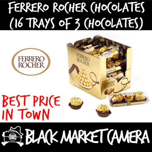 Ferrero Rocher Chocolate (Bulk Quantity, 16 Trays of 3 Chocolates)