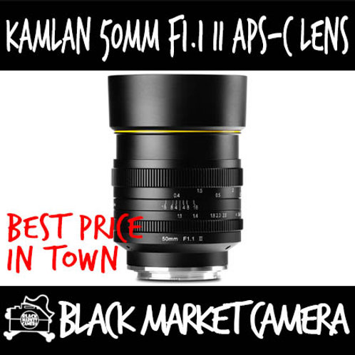Kamlan 50mm F1.1 II APSC Lens (Canon EOS M Mount)