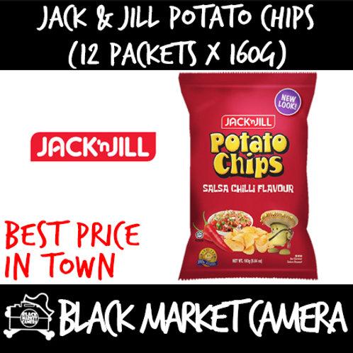 Jack & Jill Potato Chips (Bulk Quantity, 12 Packets x 160g)