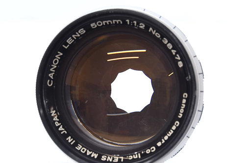 *SOLD* Canon 50mm F1.2 LTM L39 M39 Screw Mount Rangefinder (used)