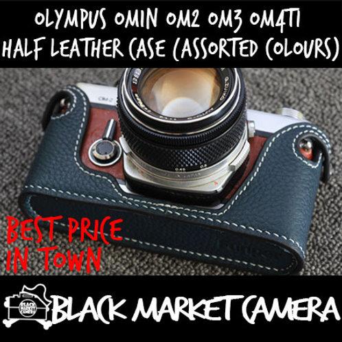 Funper Olympus OM1n OM2 OM3 OM4Ti Leather Half Case