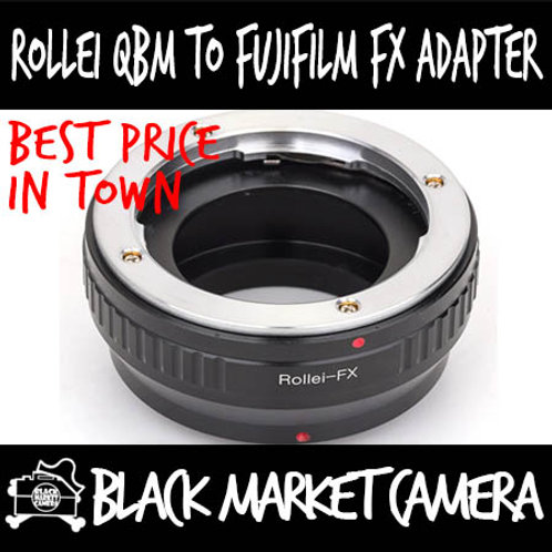 Rollei QBM Lens to Fuji FX Mount Body Adapter