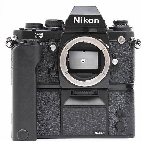 Nikon F3 Classic Film SLR (Black) + MD-4 Motor Drive (used)