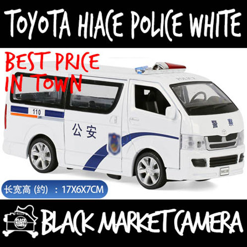 1:32 Toyota Hiace Van Police White Diecast Car Model