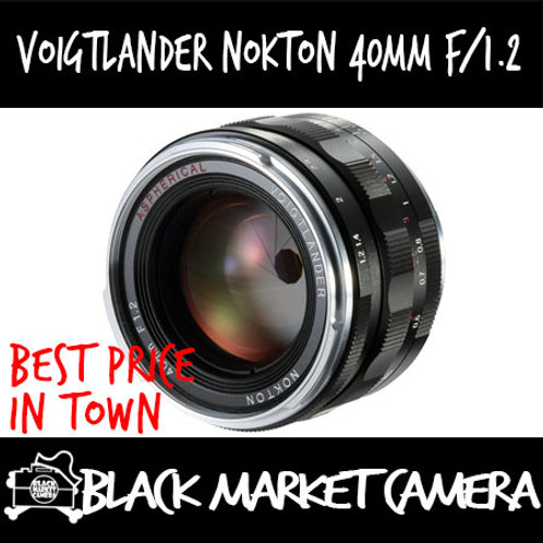 Voigtlander Nokton 40mm f/1.2 Aspherical Lens for Leica-M Mount