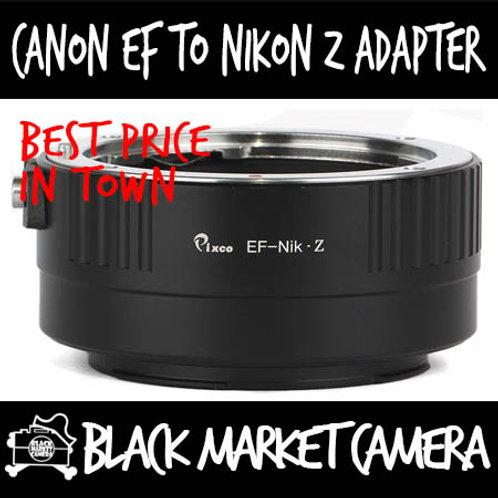 Canon EF Lens to Nikon Z Mount Camera