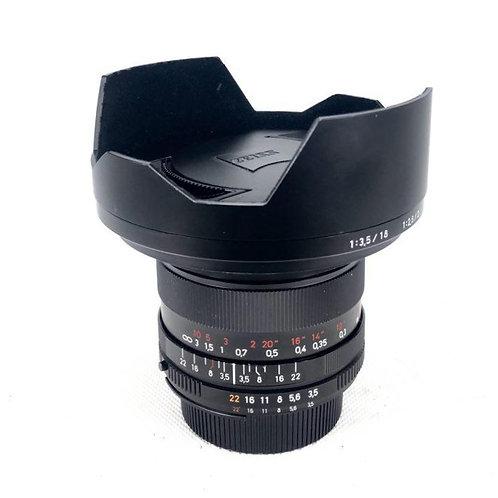 Carl Zeiss Distagon T* 18mm F3.5 ZF.2 Nikon Mount (used)