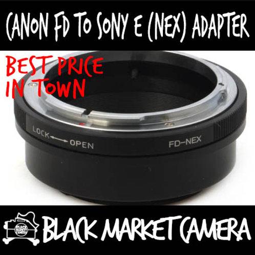 Canon FD Lens to Sony E (NEX) Body Adapter
